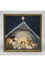 Greenbox Art 6x6 Embellished Canvas Nativity Manger