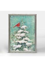 Greenbox Art 5x7 Embellished Canvas Cardinal on a Pine Tree