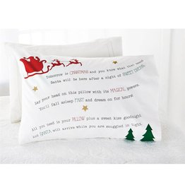Mud Pie Santa Dreams Pillow Case