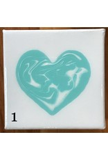 Kris Marks 4x4 Resin Heart Canvas