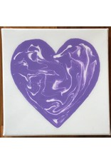 Kris Marks 6x6 Resin Heart Canvas