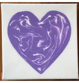 Kris Marks 6x6 Resin Heart Canvas