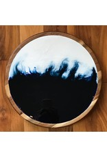 "Kris Marks 13"" Marbled Resin Lazy Susan"