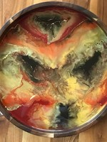 Kris Marks Marbled Resin Serving Tray
