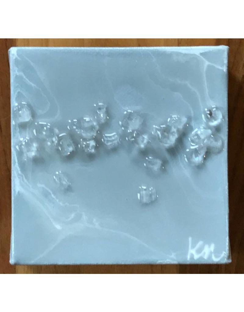 Kris Marks 4x4 Glass Rocks Painting