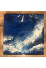 Kris Marks 12x12 Blue & White Dirty Pour w/ Resin