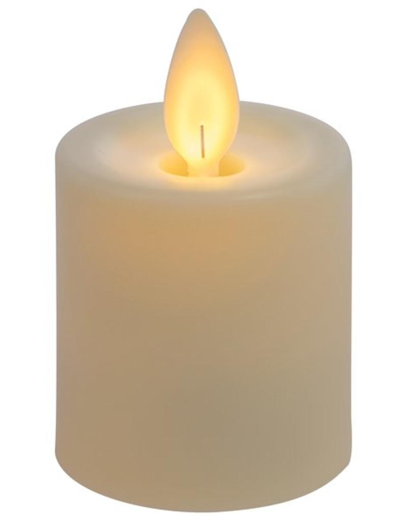 "Ganz 2"" Led Resin Votive,  ivory, 2 piece"