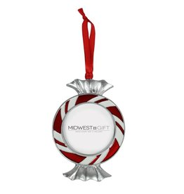 Ganz Peppermint Candy Frame Ornament