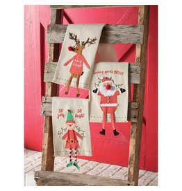 Santa Dangle Leg Towel