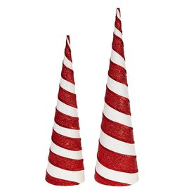 "raz 20.5"" Striped Cone Tree Set/2"