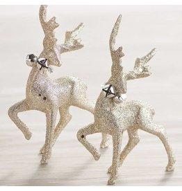 raz Glittered Standing Deer Ornament