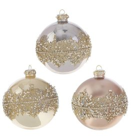 raz Beaded Ball Ornament