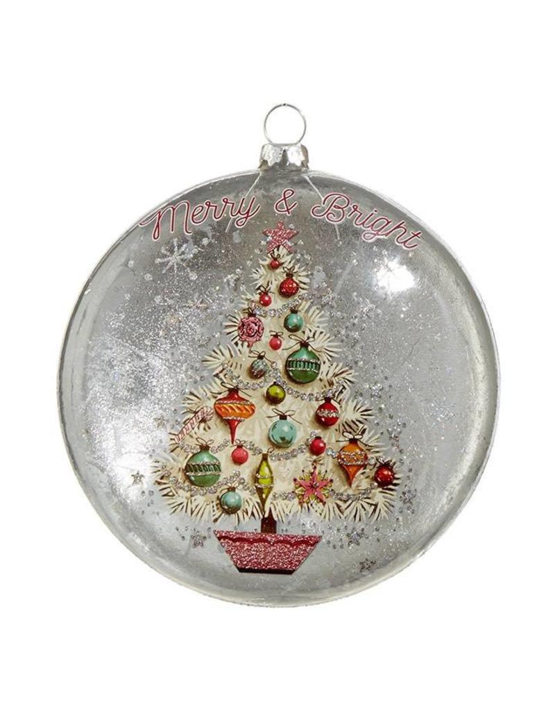 "raz 5"" Vintage Tree Disk Ornament"