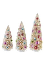 "raz 13.5"" Colorful Bottle Brush Tree Set/3"