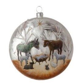 raz Nativity Disk Ornament