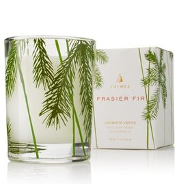 Thymes Frasier Fir Votive Candle, Pine Needle