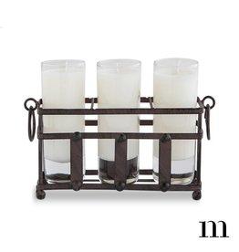 Mixture Candles Three Votive Metal Holder