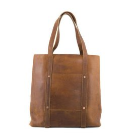 Rustico Habitat Leather Tote Saddle