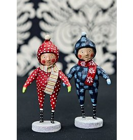 "ESC & Company ""Snow Day Duo"" Boy Figurine"