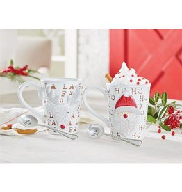 Mud Pie Santa Mug Set