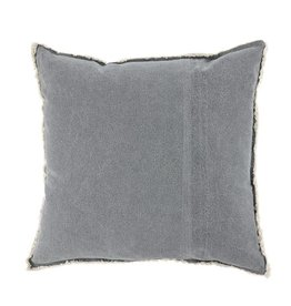 Mud Pie Grey Washed Canvas Pillow