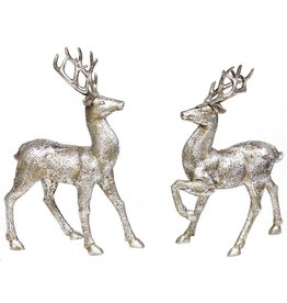 "A&B Floral 13"" H Standing Deer Silver"