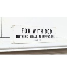 Revelation Culture For With God Nothing Shall Be Impossible White Shelf Sitter