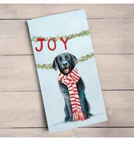 Greenbox Art Joy Love Peace Tea Towel