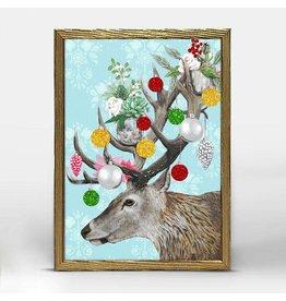 Greenbox Art 5x7 Embellished Canvas Ornamental Deer