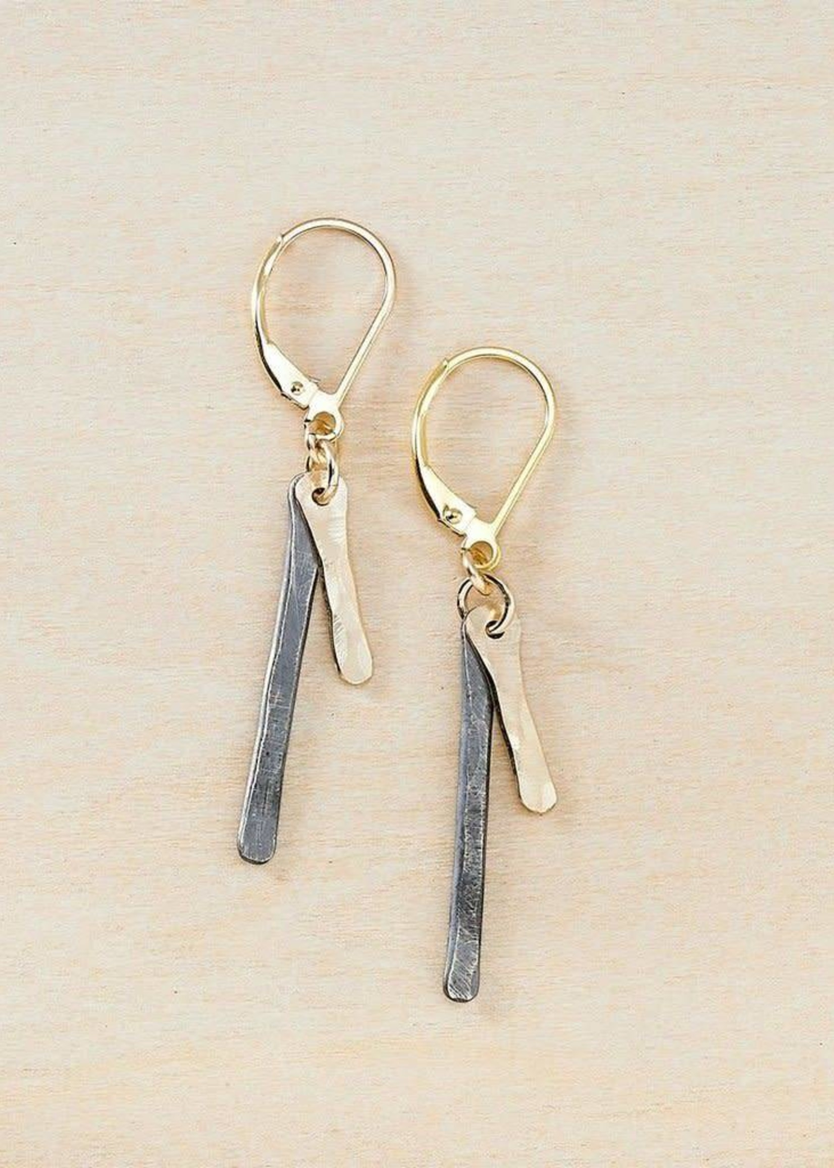 Freshie & Zero GF Antique Bars Earrings