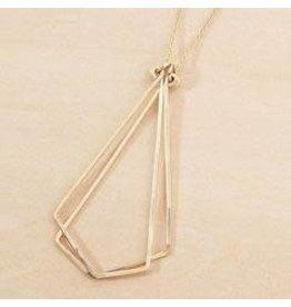 """Freshie & Zero 24"""" Sterling Silver Geodes Necklace"""