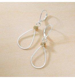 Freshie & Zero SS Gold Swirl Teardrop Earrings