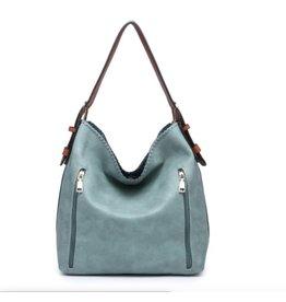 Buford Wholesale 2 Zipper Pocket Conceal Carry Handbag Teal
