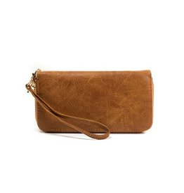 Buford Wholesale Double Zip Wallet Brown