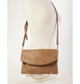 Buford Wholesale Flapover Crossbody Taupe