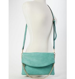 Buford Wholesale Flapover Crossbody Turquoise