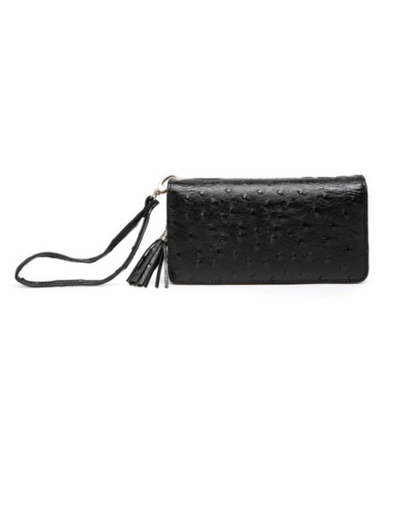 Buford Wholesale Textured Wristlet Wallet Black