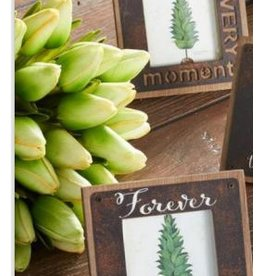 """K & K Interiors 10.5"""" Green Real Touch Tulip Stem"""