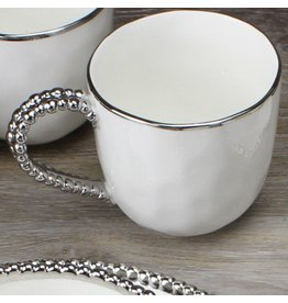Pampa Bay Beaded Mug White