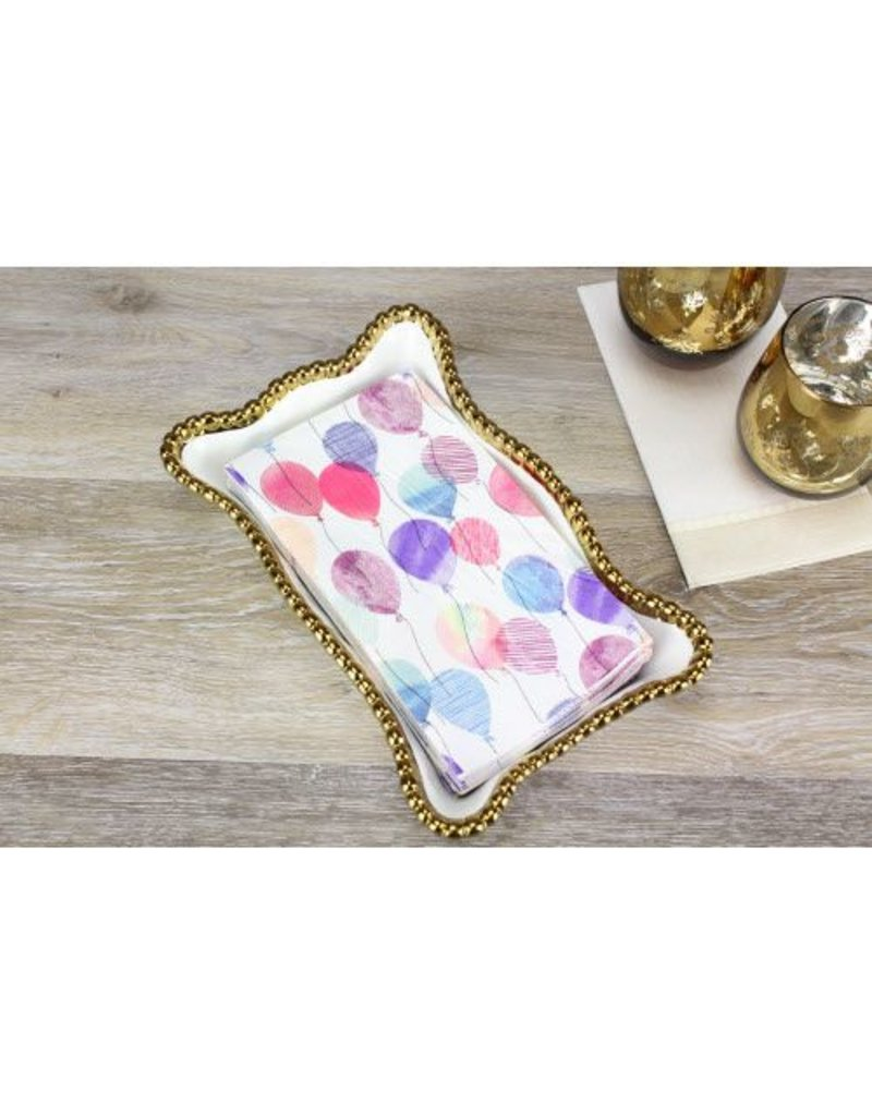 Pampa Bay Dinner Napkin / Guest Towel Holder White / Gold