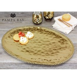 Pampa Bay Large Oval Platter Gold