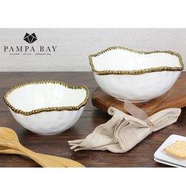 Pampa Bay Large Salad Bowl White / Gold