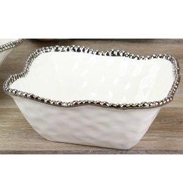 Pampa Bay Medium Square Bowl White