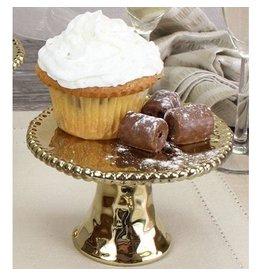 Pampa Bay Pedestal Cupcake Stand Gold