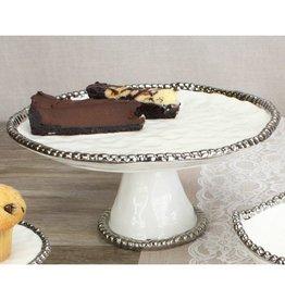 Pampa Bay Round Cake Stand White