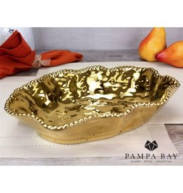 Pampa Bay Serving Bowl Gold