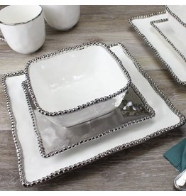 Pampa Bay Square Salad Plate Silver