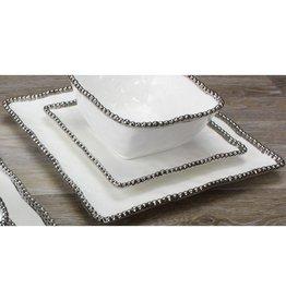 Pampa Bay Square Salad Plate White