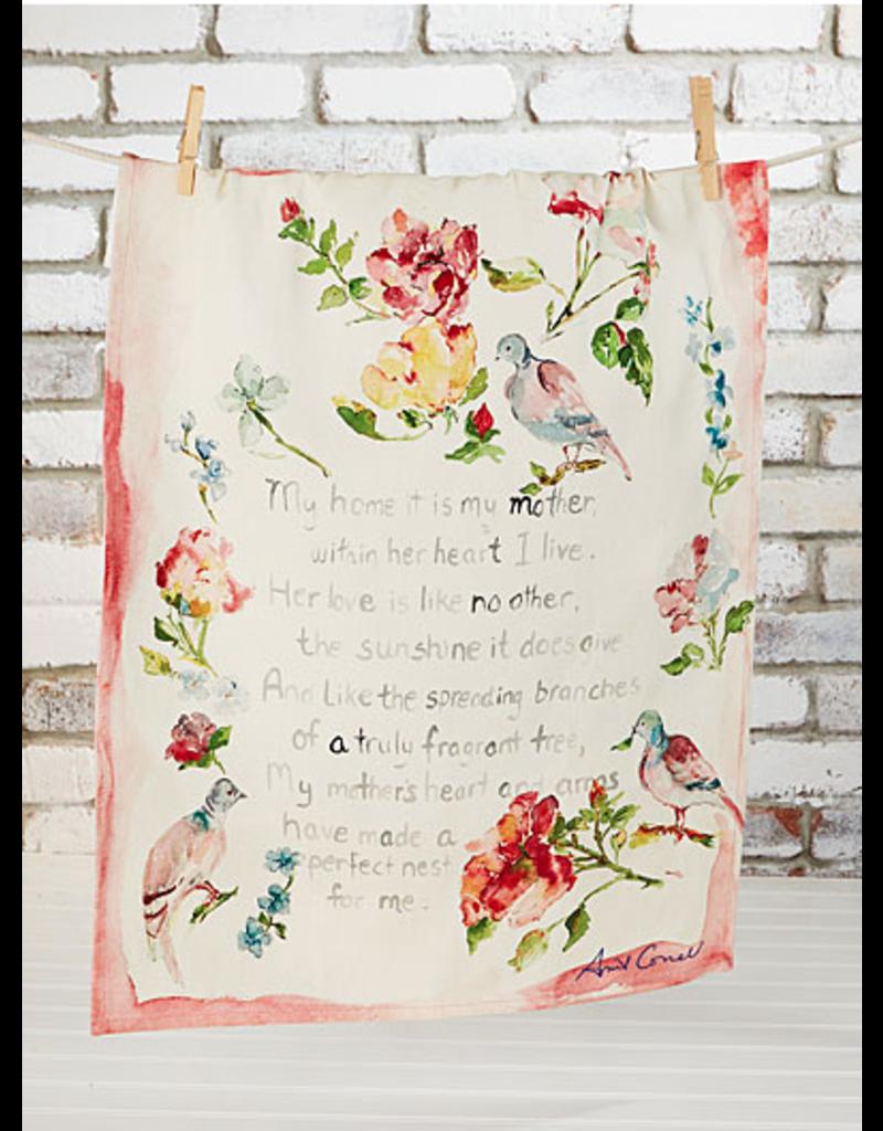 April Cornell Mother's Poem Tea Towel Multi