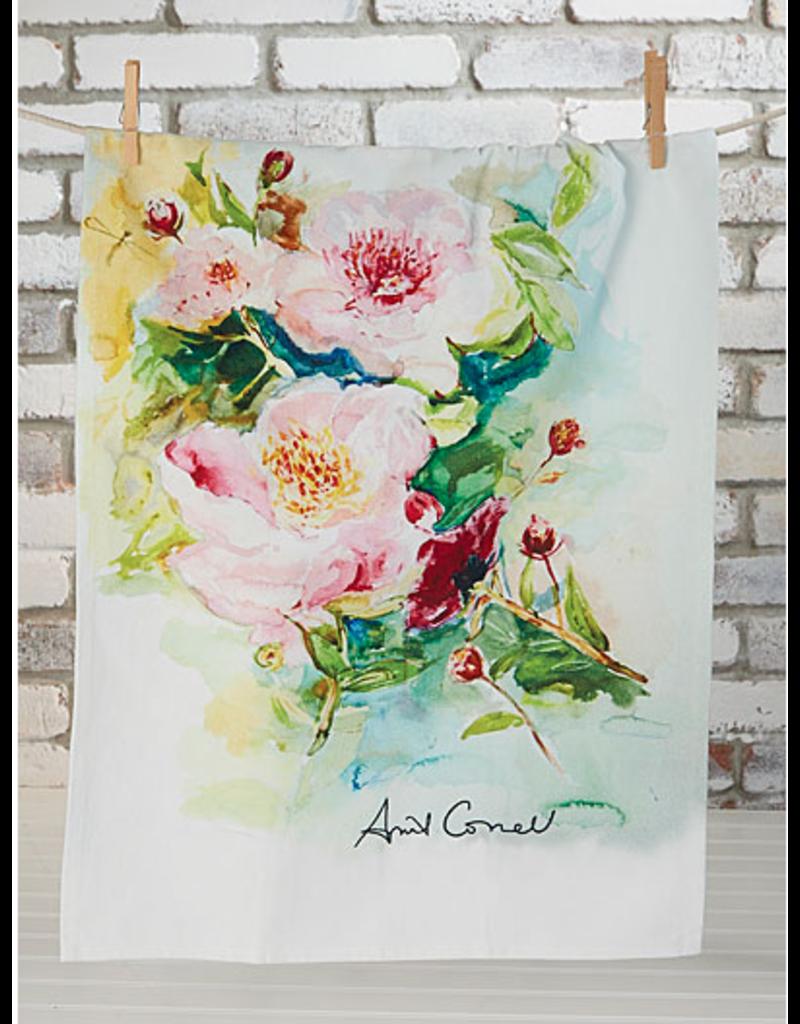 April Cornell Peony Tea Towel Multi
